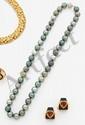 Collier de 46 perles de culture de Tahiti multicolores,