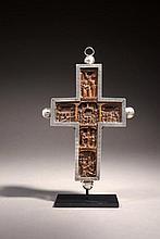 Importante Croix de procession Mont Athos, fin du