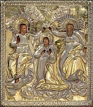 La Vierge Marie couronnée Tempera sur bois,