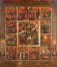 La Résurrection, en treize chapitres Tempera sur