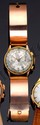 CHRONOGRAPHE SUISSE Pour Shell. Boitier or rose