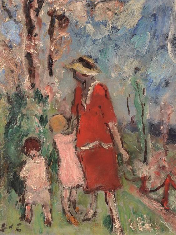 Georges d'ESPAGNAT 1870 -1950 - Femme et enfants