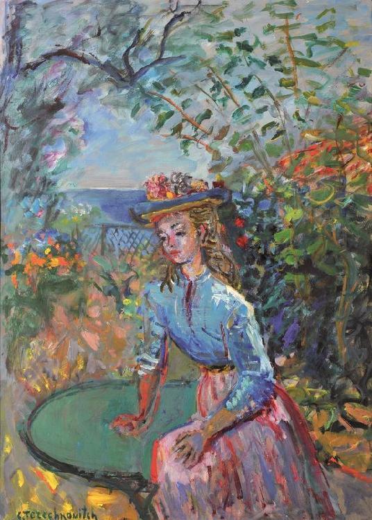 Constantin TERECHKOVITCH 1902 -1978 - Jeune femme ...