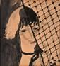 Marie LAURENCIN 1883 -1956 - Visage au filet