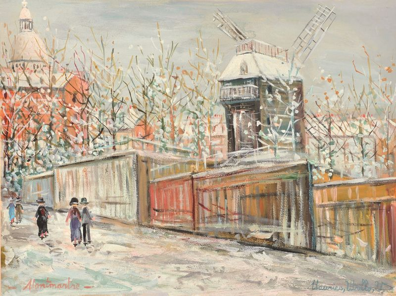 Maurice UTRILLO 1883 -1955 - Montmartre sous la neige
