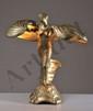 Dans le goût de Raoul LARCHE - Lampe en bronze doré