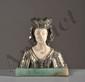 Eugène BERNOUD XIX - XX - Buste d'une femme en tenue médiévale