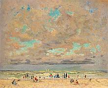 André HAMBOURG (1909-1999) Temps gris sur la plage