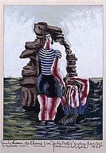 JEAN LURÇAT (1892-1966) Couple de baigneurs,1931.