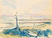 Maximilien LUCE (1858-1941) Embarcation au large des cotes