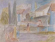 Emile Othon FRIESZ (1879-1949) Paysage urbain 1