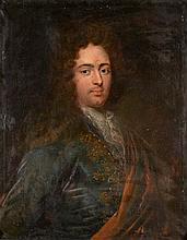 Ecole française circa 1700    Portrait d'Antoine Bruliey de Marnay (décédé 1745)    Huile sur toile (petits manques)    74 - 60