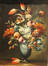 Ecole du XIXe siècle    Bouquet de fleurs    Huile sur toile    41 - 30 cm