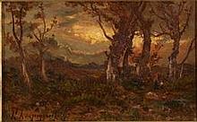 François MAURY (1861-1933)    Sous bois    Huile sur toile, signée en bas à gauche.     65 x 92 cm