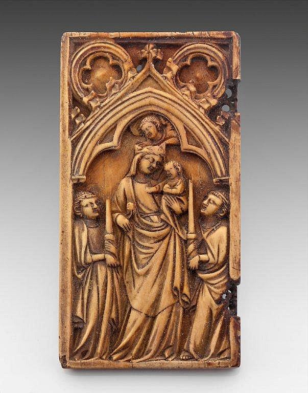 Plaque de dyptique en ivoire sculpté
