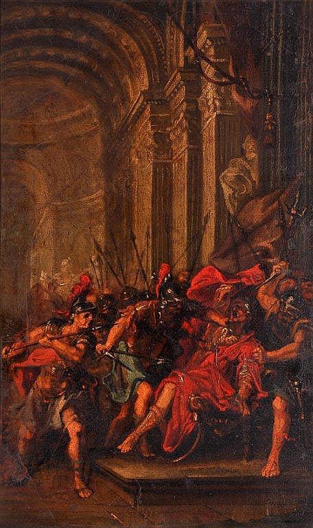 Ecole Française du XVIIIème - L'assassinat d'un Empereur