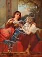 Louis DEVEDEUX - Femmes orientales au narguilé