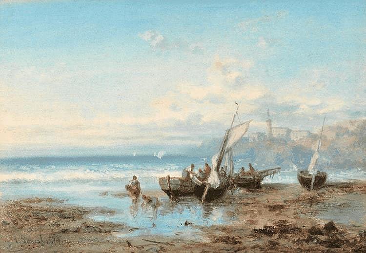 Paul PASCAL - Retour des pêcheurs
