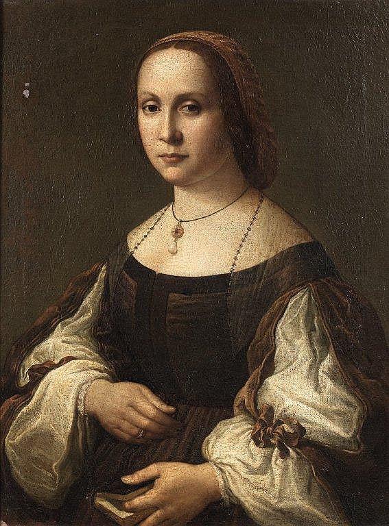 Ecole ROMAINE vers 1680, suiveur de Raphael - Portrait