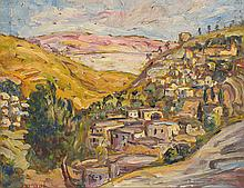 Daniel ISRAËL (1859-1901)  Paysage oriental  Huile sur toile signée en bas à gauche  39 x 48 cm