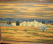 Jean-Pierre CAPRON (1921-1997) Village en Provence