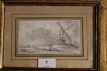 Une série de quatre dessins au crayon DESFRICHES attribué à Aignan THOMAS (1715-1800)