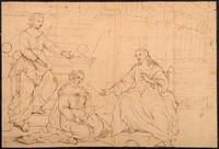 Attribué à Michel CORNEILLE II (1642- 1708) Le Christ avec Marthe et Marie