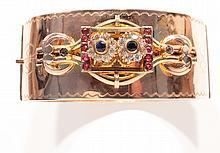 Bracelet jonc plat articulé