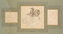 Théodore GERICAULT (1791-1824) Trois dessins regroupés