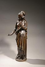 Albert-Ernest DE CARRIER BELLEUSE (1824-1887) Isabelle, La fileuse