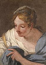 Florence, époque XVIIe siècle  Jeune femme penchée