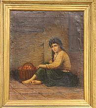 HEINE Ludwig (XIX) Fillettes aux oranges