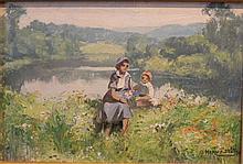 Jules-Alfred Hervé-Mathé (1868-1953) Bord de rivière