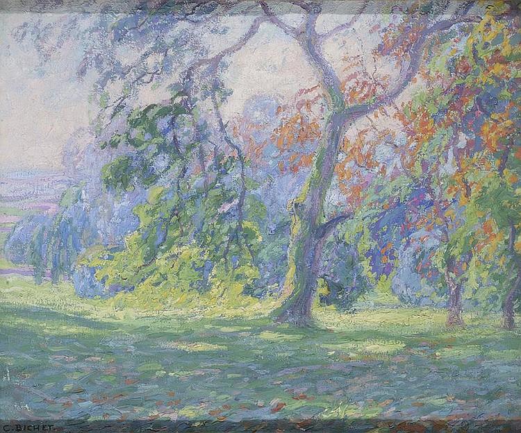 CHARLES THÉODORE BICHET (1863-1929) La clairière