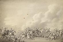 D'APRÈS HORACE VERNET (1789-1863)Oriental retenant son chevalLavis d'encre sur papier15 x 23 cm150 / 200 €  Oriental retenant son cheval