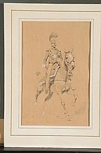 EDOUARD DETAILLE (PARIS, 1848-PARIS, 1912) Cuirassier à cheval