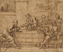 Thomas BLANCHET (1615-1689) Le souper à Emmaüs