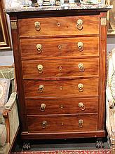 Semainier en bois de placage  Style Louis XV
