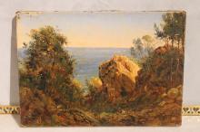 Jules DEFER (1803 - 1903) Monaco Huile sur