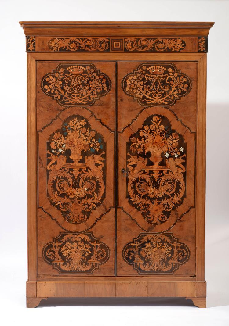 Deux portes d 39 armoire par thomas hache 1664 1747 for Armoire deux portes