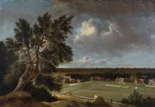 Jan van KESSEL   (Amsterdam 1641/2 - 1680)   Village au creux de la vallée   Toile   Signée en bas à gauche   59 x 84 cm
