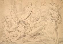 École Française du XVIIe siècle   Scène mythologique   Crayon   27 x 38 cm