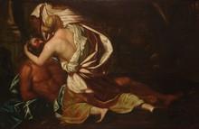 Suiveur de Luca Giordano   1634-1705   Scène tirée de la mythologie   Huile sur toile   68 x 109 cm