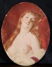 Attribué à CHARLES CHAPLIN (1825-1891) Femme alanguie