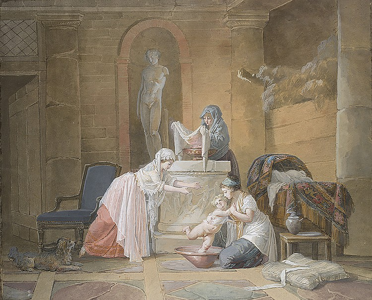 JEAN-BAPTISTE MALLET (1759-1835) Attribué à