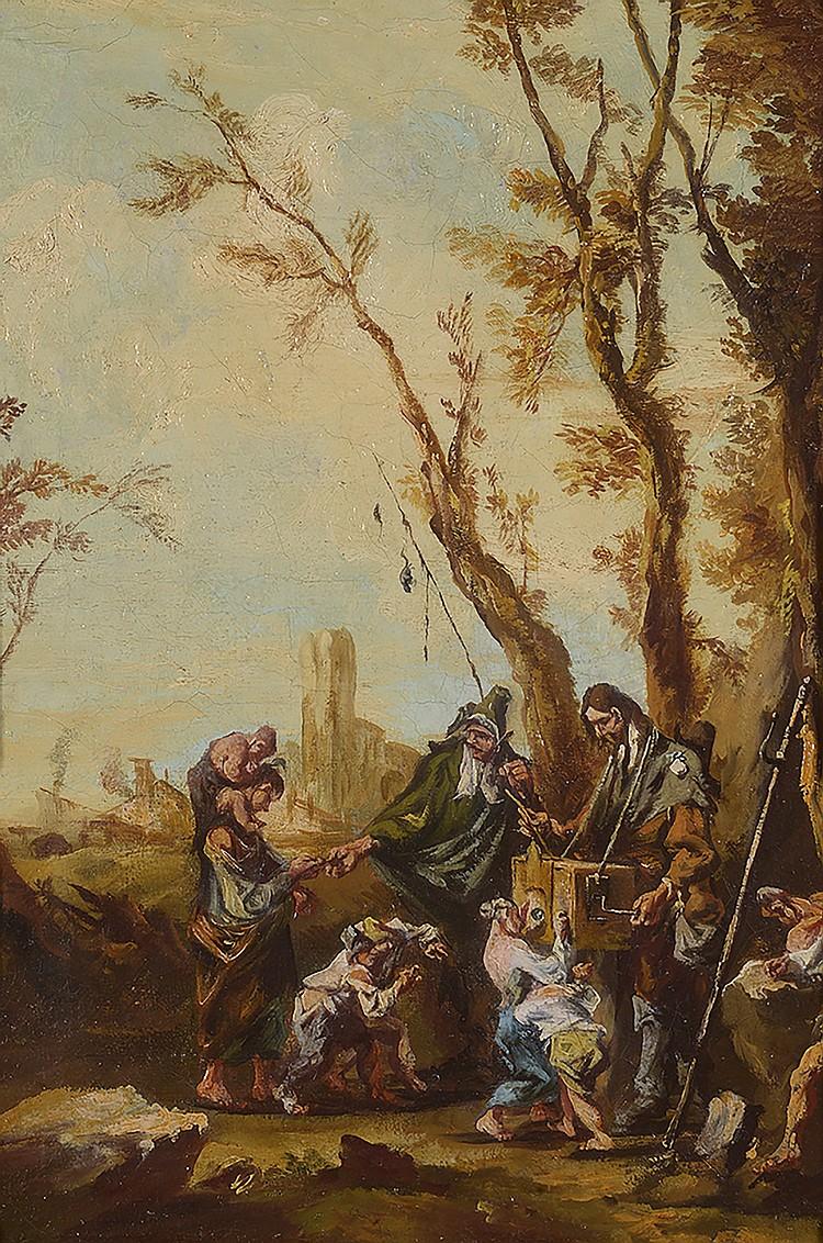 Dans le goût  D' ALESSANDRO MAGNASCO  (1667-1749)