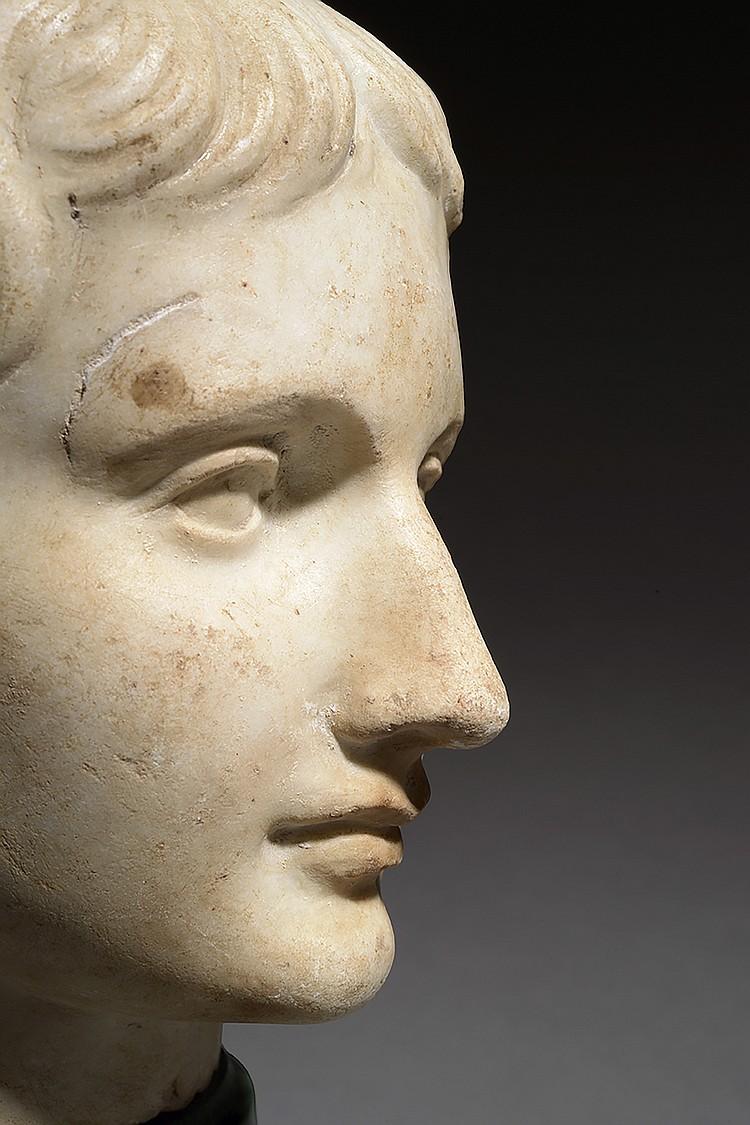 ART ROMAIN, Ier SIECLE AP. J.-C Portrait de jeune homme