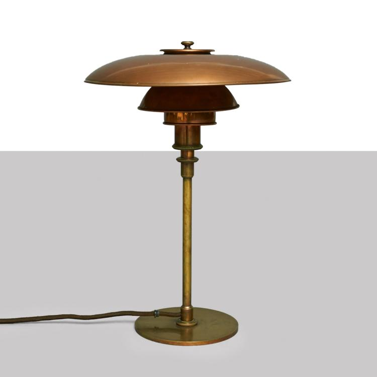 Poul Henningsen, PAT. APPL. 3/2 Table Lamp, Early Model