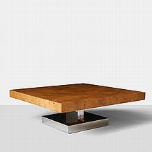 Milo Baughman, Burled Coffee Table