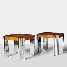 Milo Baughman, Pair of End Tables